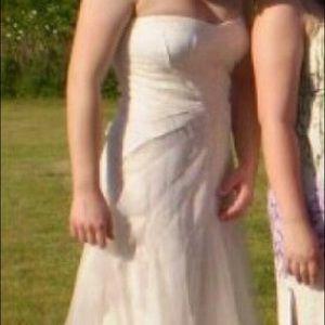 BCBG Maxamaria White Dress, Size 12, worn once
